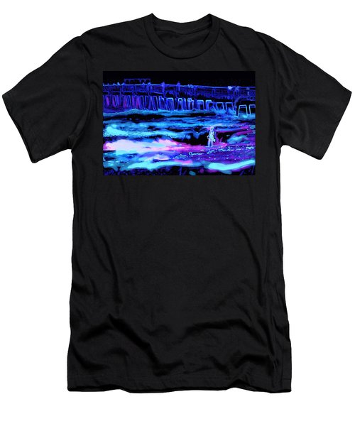 Beach Scene At Night Men's T-Shirt (Athletic Fit)