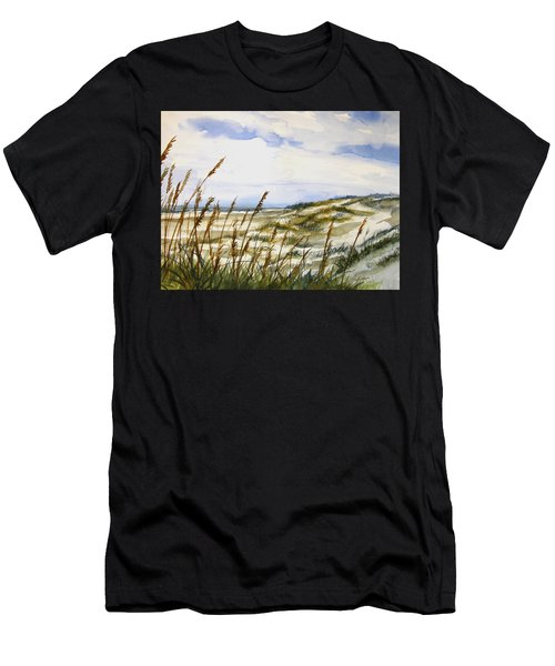 Beach Watercolor 3-19-12 Julianne Felton Men's T-Shirt (Athletic Fit)