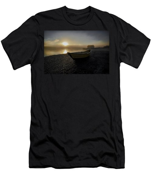 Beached Dory In Lifting Fog  Men's T-Shirt (Athletic Fit)
