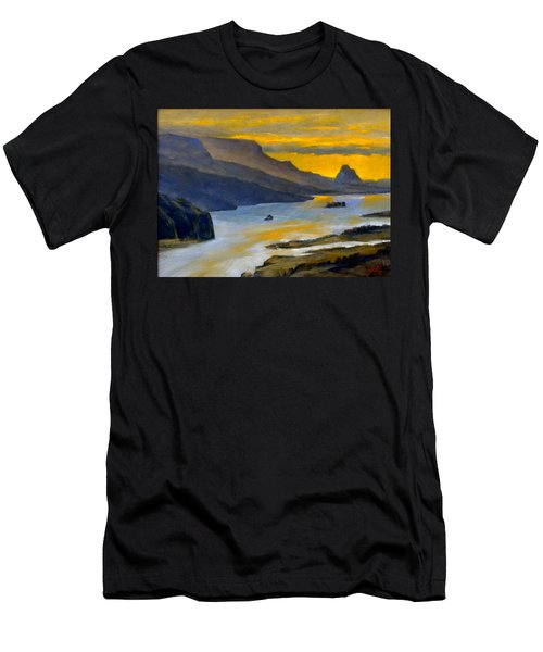 Beacon Rock From Oregon Side Men's T-Shirt (Athletic Fit)