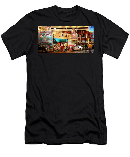 Beale Street Men's T-Shirt (Slim Fit) by Barbara Chichester