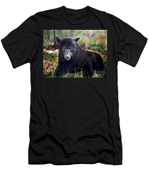 Bear Painting - Blackberry Patch - Wildlife Men's T-Shirt (Athletic Fit)