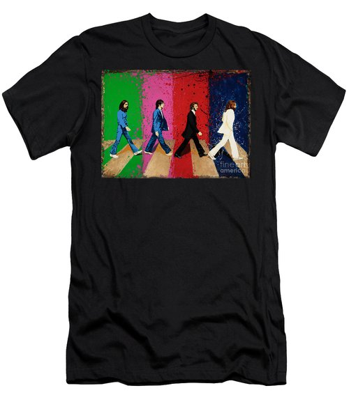 Beatles Crossing Men's T-Shirt (Athletic Fit)