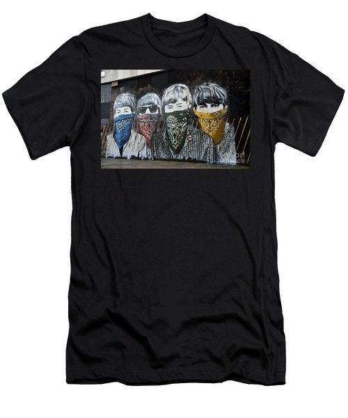Beatles Street Mural Men's T-Shirt (Athletic Fit)