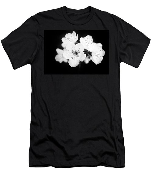 Beautiful Blossoms In Black And White Men's T-Shirt (Slim Fit) by Matthias Hauser