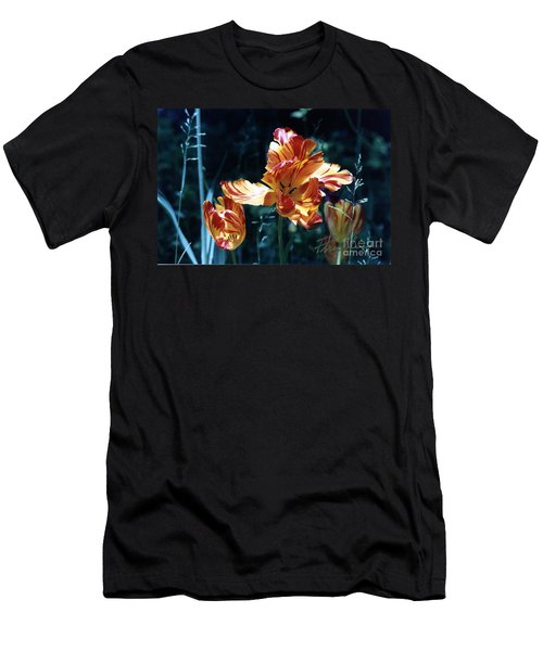 Men's T-Shirt (Slim Fit) featuring the photograph Gorgeous Tulip by Phyllis Kaltenbach