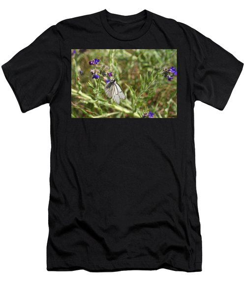 Beautiful Butterfly In Vegetation Men's T-Shirt (Athletic Fit)
