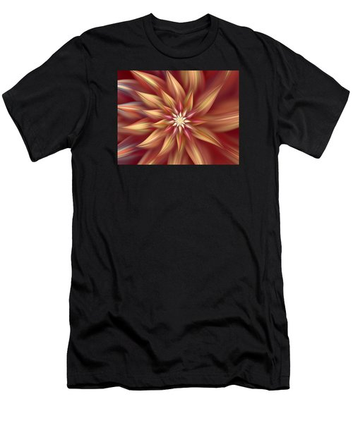 Beautiful Dahlia Abstract Men's T-Shirt (Athletic Fit)