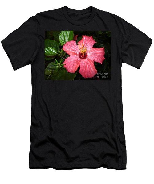 Men's T-Shirt (Slim Fit) featuring the digital art Beautiful Hibiscus by Oksana Semenchenko