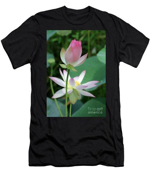 Beautiful Lotus Blooming Men's T-Shirt (Athletic Fit)