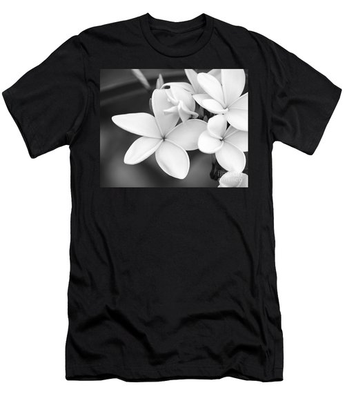 Beautiful Plumeria In Black And White Men's T-Shirt (Athletic Fit)