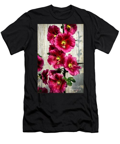 Beautiful Red Hollyhock Men's T-Shirt (Athletic Fit)