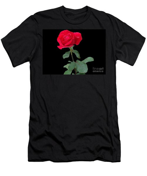 Beautiful Red Rose Men's T-Shirt (Athletic Fit)