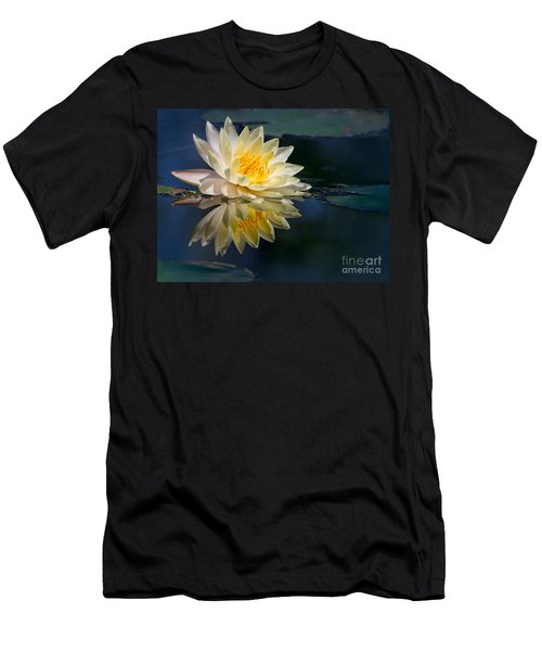 Beautiful Water Lily Reflection Men's T-Shirt (Athletic Fit)