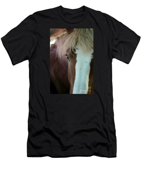 Men's T-Shirt (Slim Fit) featuring the photograph Beautiful Within Him Was The Spirit - 1 by Linda Shafer
