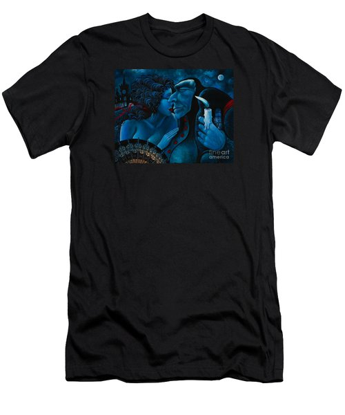 Men's T-Shirt (Slim Fit) featuring the painting Beauty And The Beast by Igor Postash