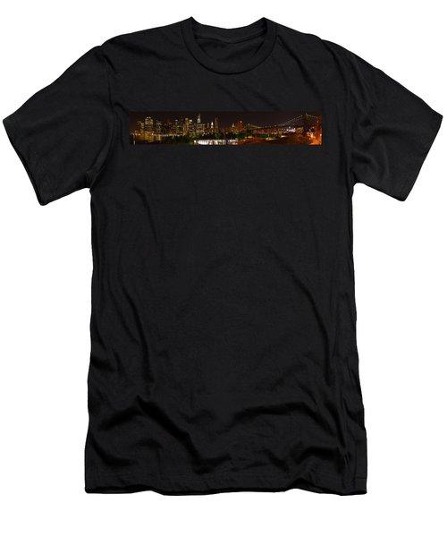 Beauty From Brooklyn Bridge Park Men's T-Shirt (Athletic Fit)