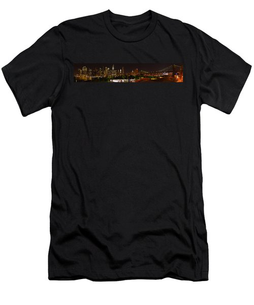 Beauty From Brooklyn Bridge Park Men's T-Shirt (Athletic Fit)