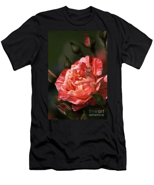 Men's T-Shirt (Slim Fit) featuring the photograph Beauty Of Rose by Joy Watson