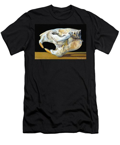 Beaver Skull 1 Men's T-Shirt (Slim Fit) by Catherine Twomey