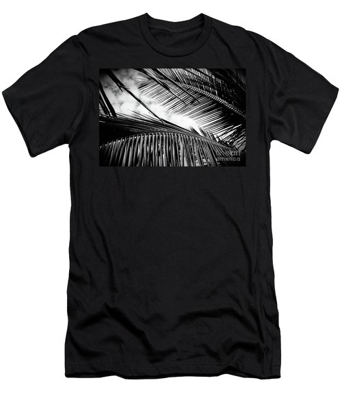 Men's T-Shirt (Athletic Fit) featuring the photograph Maui Paradise Palms Hawaii Monochrome by Sharon Mau