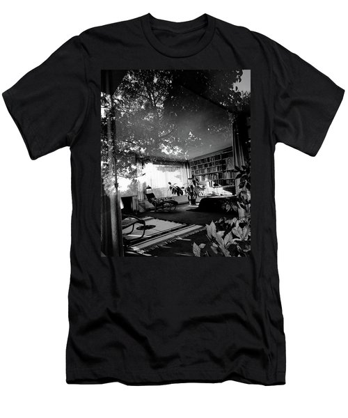 Bedroom Seen Through Glass From The Outside Men's T-Shirt (Athletic Fit)