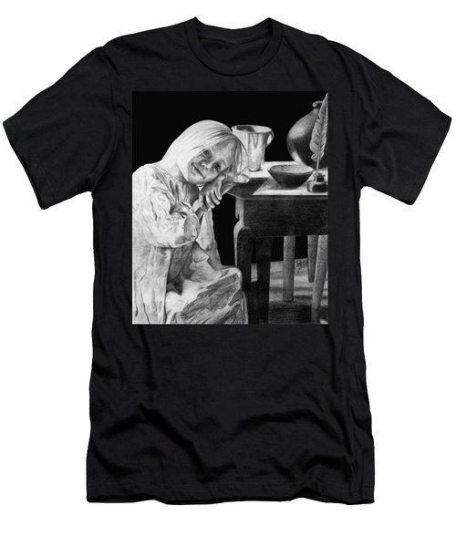 Men's T-Shirt (Slim Fit) featuring the drawing Bedtime by Sophia Schmierer