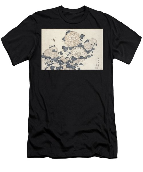 Bee And Chrysanthemums Men's T-Shirt (Athletic Fit)