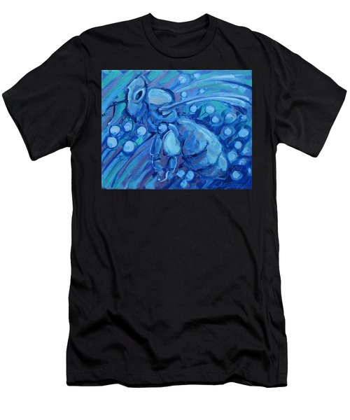Bee Blue Men's T-Shirt (Athletic Fit)