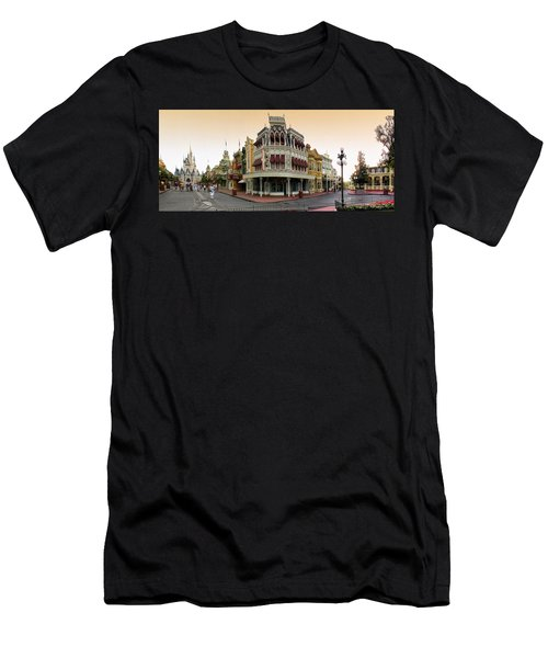 Before The Gates Open Magic Kingdom Main Street. Men's T-Shirt (Athletic Fit)