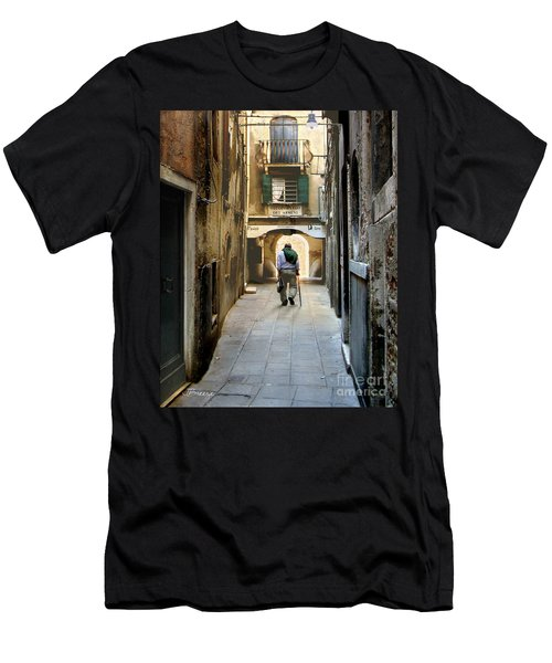 Men's T-Shirt (Slim Fit) featuring the photograph Beginning Of An End by Jennie Breeze
