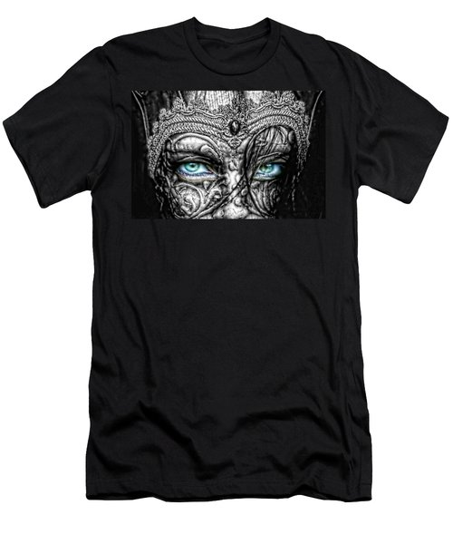 Behind Blue Eyes Men's T-Shirt (Slim Fit) by Mo T