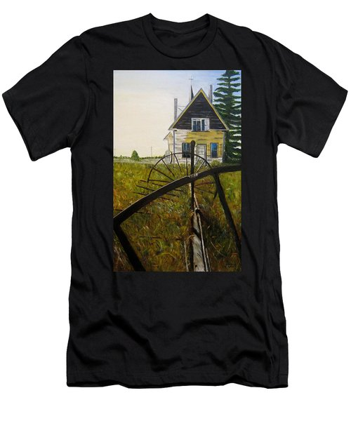 Men's T-Shirt (Slim Fit) featuring the painting Behind The Old Church by Marilyn  McNish