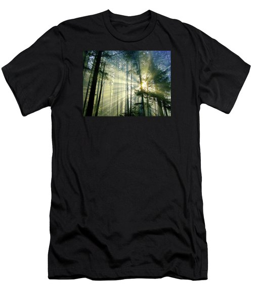 Behold The Light In The Fall Forest Men's T-Shirt (Athletic Fit)