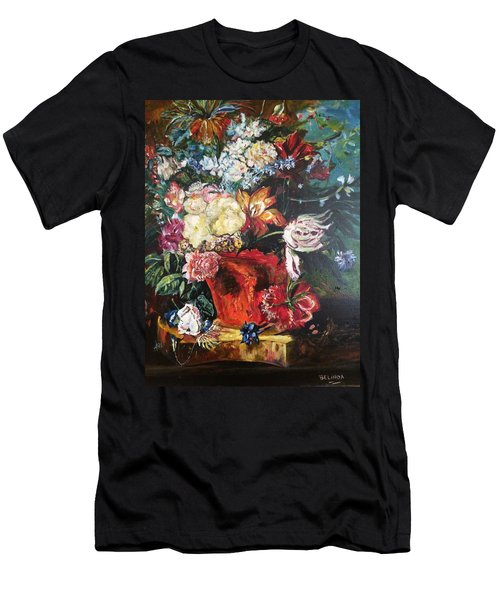 Life Is A Bouquet Of Flowers  Men's T-Shirt (Slim Fit) by Belinda Low