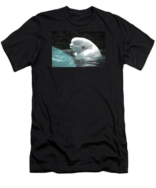 Beluga Whale Men's T-Shirt (Slim Fit)