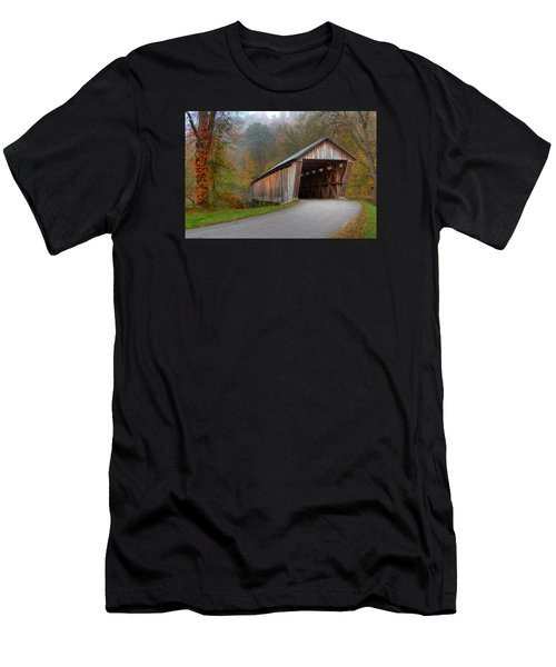 Bennett Mill Covered Bridge Men's T-Shirt (Athletic Fit)