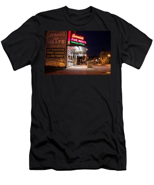 Bernies Fine Meats Signage Men's T-Shirt (Athletic Fit)