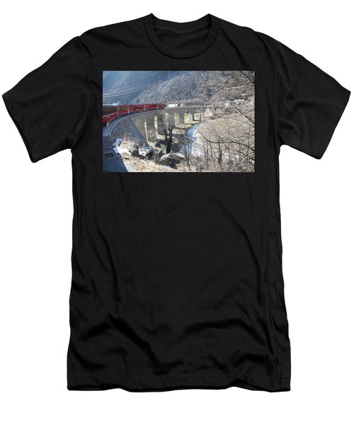 Bernina Express In Winter Men's T-Shirt (Athletic Fit)