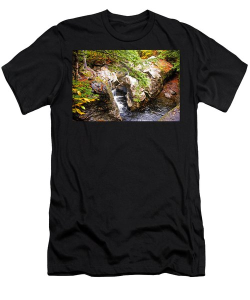 Men's T-Shirt (Slim Fit) featuring the photograph Beside The Water by Bill Howard