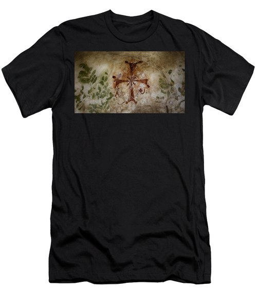 Bet She'an Baptistery Cross Men's T-Shirt (Athletic Fit)