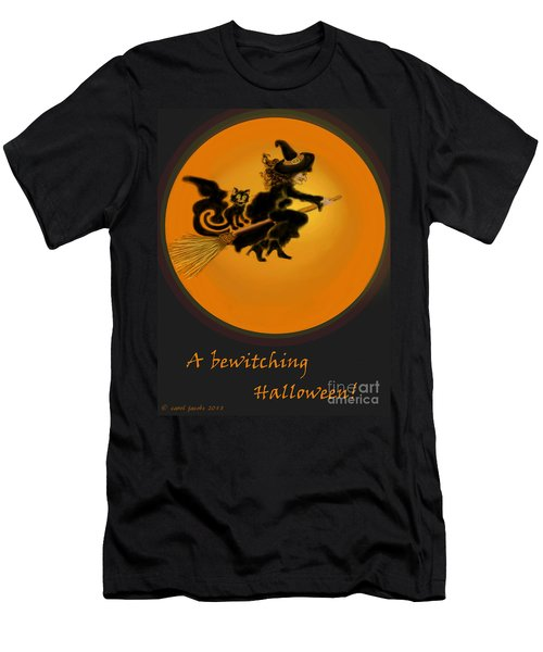 Men's T-Shirt (Slim Fit) featuring the painting Betwitched by Carol Jacobs