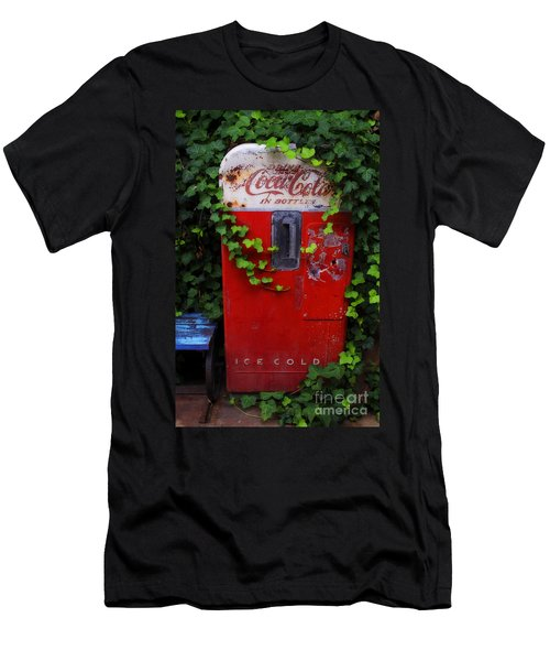 Austin Texas - Coca Cola Vending Machine - Luther Fine Art Men's T-Shirt (Athletic Fit)