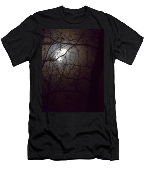 Men's T-Shirt (Slim Fit) featuring the photograph Beware The Rougarou Moon by John Glass