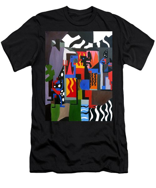 Men's T-Shirt (Athletic Fit) featuring the painting Bicloptochotik by Ryan Demaree