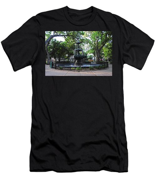 Bienville Fountain Mobile Alabama Men's T-Shirt (Athletic Fit)