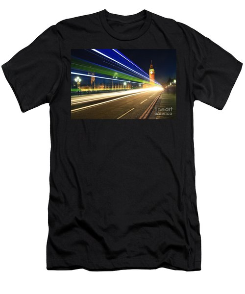 Big Ben And A Bus Men's T-Shirt (Athletic Fit)