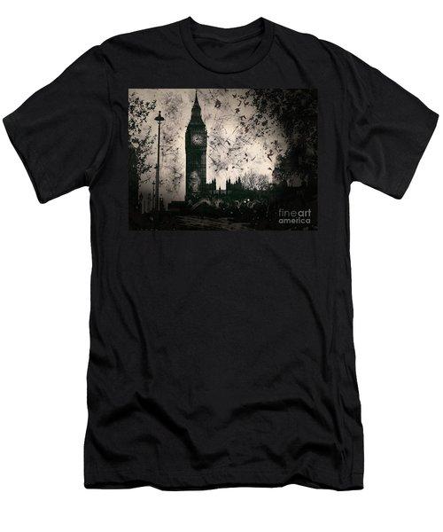 Big Ben Black And White Men's T-Shirt (Athletic Fit)