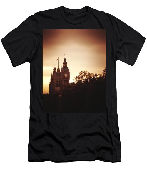 Big Ben In Sepia Men's T-Shirt (Athletic Fit)