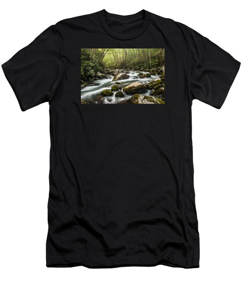 Men's T-Shirt (Slim Fit) featuring the photograph Big Creek by Debbie Green